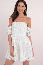 white dresses ali white shoulder skater dress 44 tobi us