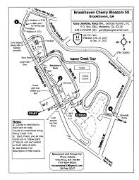 Cherry Blossom Map 5k Run 1k Walk U2013 Brookhaven Cherry Blossom Festival