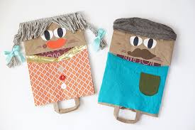 giant paper bag puppets on pbs crafts for kids maker mama