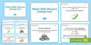 maths measure problems challenge cards maths measure