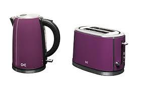 Asda Kettle And Toaster Sets Daewoo Kettle U0026 2 Slice Toaster Range Purple Kettles
