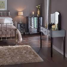 mirrored bedroom furniture pier one wood flooring lighted by desk