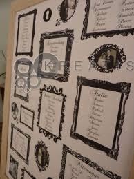 mariage baroque plan de table facile à réaliser avec des cadres baroques imprimés
