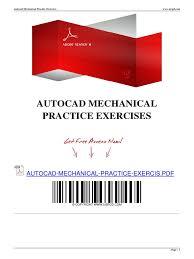 autocad practice exercises auto cad autodesk