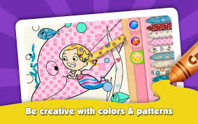 color book com kids color book mermaid story android apps on google play