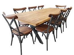 loft 9 piece outdoor teak dining setting bay gallery furniture store