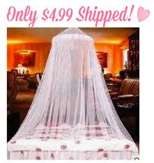 Lace Bed Canopy Amazon White Elegant Lace Bed Canopy Only 4 99 Shipped