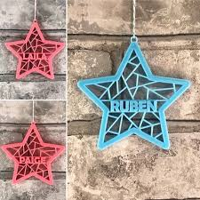 Outdoor Christmas Decorations Gumtree by Christmas Tree Decoration Geometric Star Personalised 3d