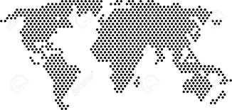Black And White World Map Black Dots World Map Royalty Free Cliparts Vectors And Stock