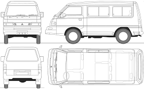 mitsubishi lancer drawing 2005 mitsubishi l300 swb bus blueprints free outlines