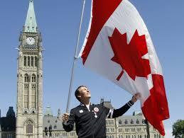 London Flag Photos Photos Canadian Flag Bearers At Last 10 Summer Olympics Toronto
