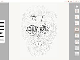 drawing abe from paper sketch to digital artwork create