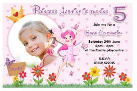 Birthday Invitation Cards Fairy Birthday Invitations Kawaiitheo Com