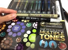 evacomics blog illustration demo with chameleon marker pens