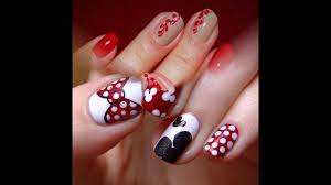 uas de gelish decoradas uñas decoradas con gelish rojo youtube