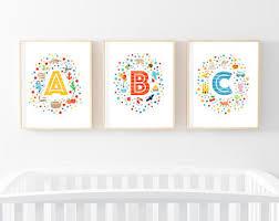 Abc Nursery Decor Abc Nursery Decor Etsy