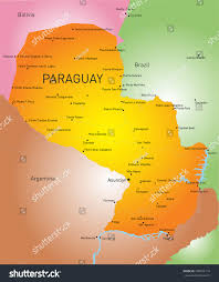 Asuncion Paraguay Map Vector Color Map Paraguay Country Stock Vector 208072114