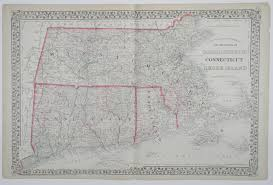 Map New York Connecticut by Maps Antique United States Us States Connecticut