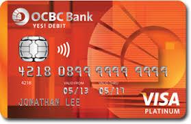 debit card for ocbc yes debit card debit card application