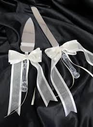 personalized wedding ribbon wedding cake knife and server set wedding cake knife wedding