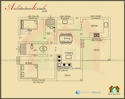Floor Plan With Elevation by Below 1000 Square Feet House Plan And Elevation Architecture Kerala
