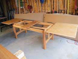 table leaf extension slides sawmill creek woodworking community farmhouse tables pinterest