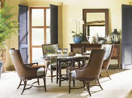 dining room table accessories landara coral sea rattan dining table with glass top lexington