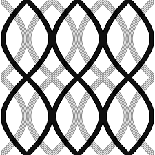shop brewster wallcovering black non woven geometric wallpaper at