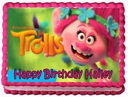 edible cake topper trolls edible cake topper birthday decorations ebay