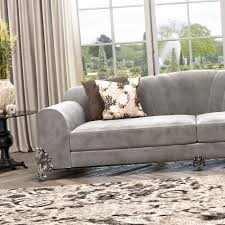 Classic Luxury Nubuck Leather Grey Sofa Juliettes Interiors - Chelsea leather sofa