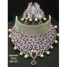 pink necklace set images Pink kundan necklace set kundan necklace set rahul jewel agra jpg