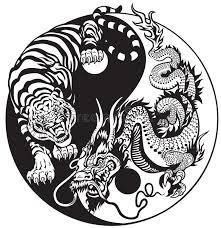 yin yang and tiger stock vector illustration of balance