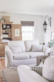 best 25 sofa slipcovers ideas on pinterest slipcovers chair a cozy farmhouse living room with beautiful linen slipcovered sofas see how to get this custom slipcovered look at