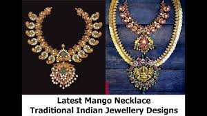 mango necklace latest traditional indian gold jewellery designs