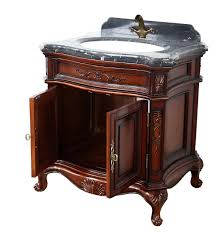 Antique Bathroom Vanity Cabinets by Antique Wooden Bathroom Vanity With Aesthetic Carving