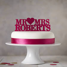 mrs and mrs cake topper personalised mr mrs cake topper by