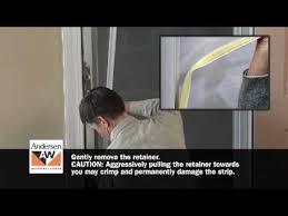 storm door with screen and glass how to switch storm door glass or insect screen retainer youtube
