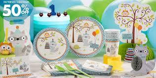 1st birthday boy themes boy 1st birthday party supplies happi woodland party city