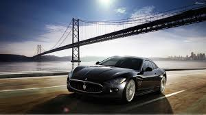 maserati granturismo black maserati granturismo running in black front pose wallpaper