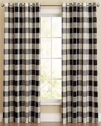 Black Check Curtains Courtyard Plaid Check Curtain Panel Black Lorraine Home