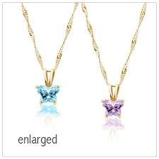 birthstone necklace gold butterfly birthstone necklace for kids
