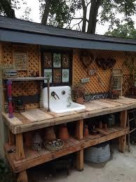 Garden Potting Bench Ideas Garden Potting Tables Best 25 Potting Benches Ideas On Pinterest