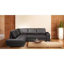 Black Leather Corner Sofa Cheap Corner Sofa Bed Maxim Faux Leather Sofas Thedailygraff