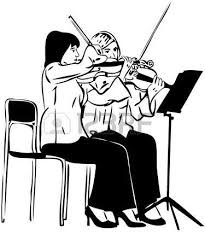 a sketch of a string quartet with derezherom stock photo picture