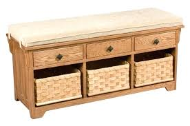 storage bench with baskets storage bench wooden entryway benches