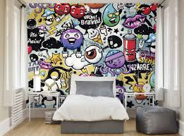 photo wallpaper wall murals funky graffiti doodle monsters zoom