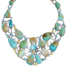 statement necklace sterling silver images Bold sterling silver genuine blue turquoise blue topaz statement jpg