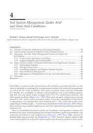 soil system management under arid and semi arid conditions pdf