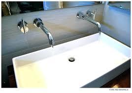 wide bathroom sink two faucets mini widespread bathroom sink