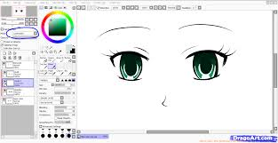 how to color eyes paint tool sai step by step coloring anime